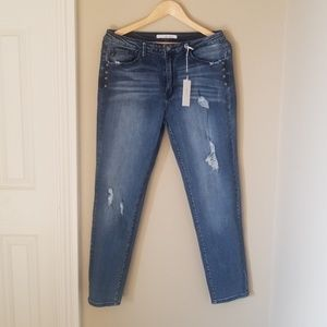 KanCan skinny jeans with rivets size 15